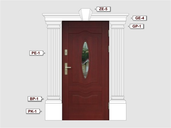 Baza pilastra ozdonego BP-1/300 - Zestaw 3