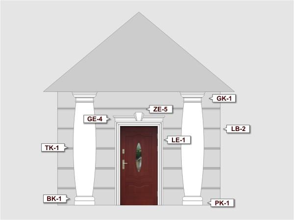 Listwa do boniowania LB-2 - Zestaw 1