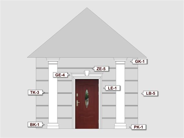 Listwa do boniowania LB-5 - Zestaw 1