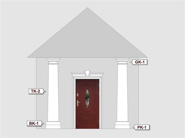 Baza kolumny elewacyjnej BK1/350 - Zestaw 1