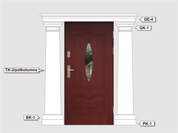 Baza kolumny styropianowej BK1/350 - Zestaw 2