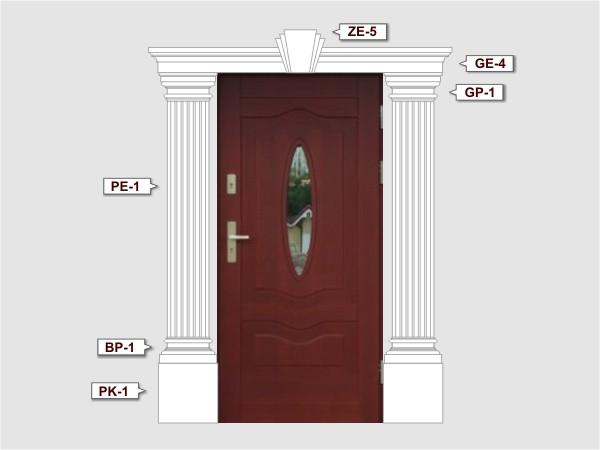 Trzon pilastra na elewację PE1/300 - Zestaw 3