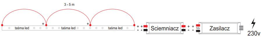 Schemat podłączenia LED
